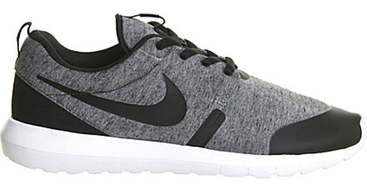 new styles 9f970 449ea greece nike roshe one black white cargokhaki nm fleece shoes mens 7b0d6  39934  uk nike roshe run nm fleece trainers in gray for men lyst 60257 19518