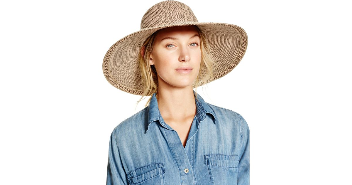 Eric Javits Bella Floppy Hat in Natural - Lyst 0c2dddab126f