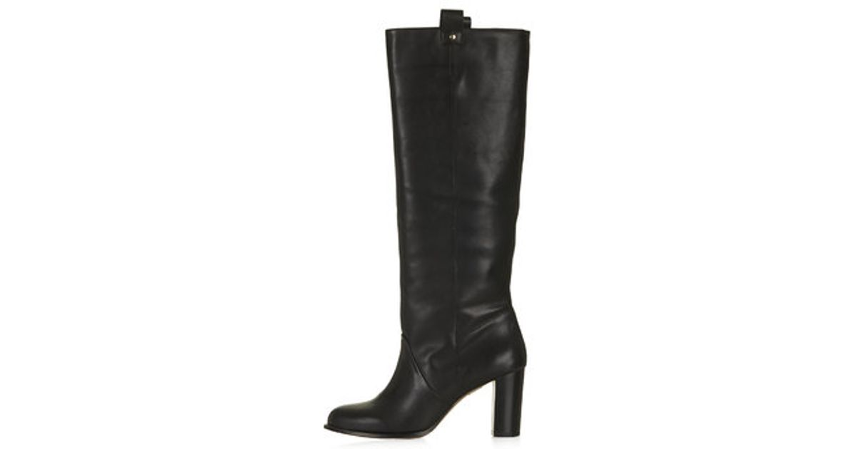7282651733f5 Lyst - TOPSHOP Captive  70S Straight Leg Boots in Black