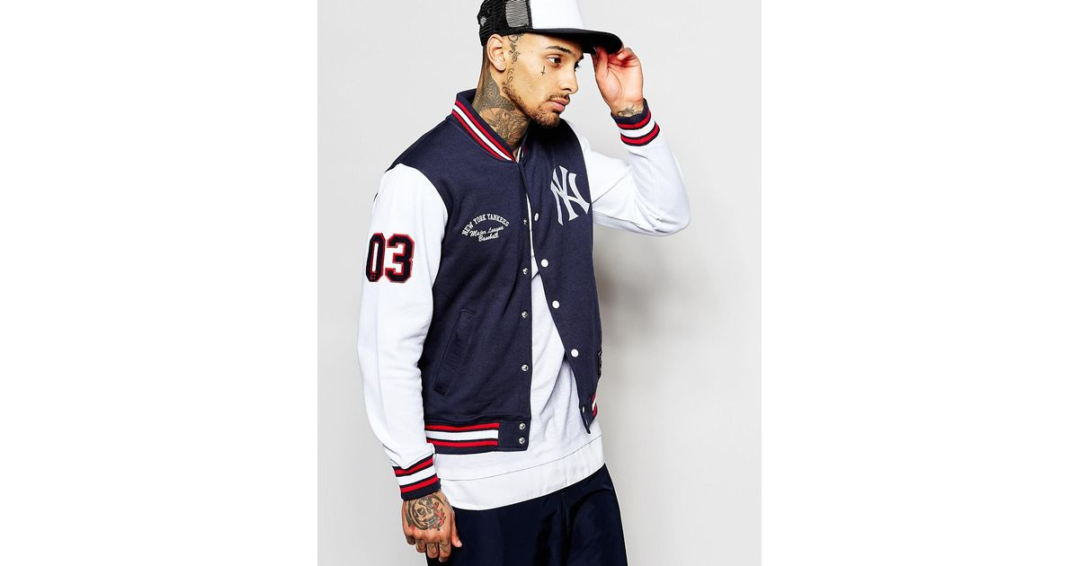 0761abd54 Majestic New York Yankees Varsity Jacket in Green for Men - Lyst