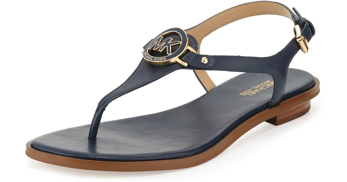 ff5552de9 MICHAEL Michael Kors Lee Leather Sandals in Blue - Lyst