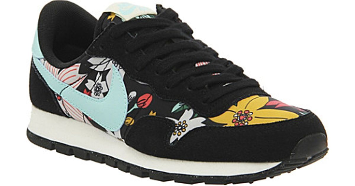 Nike Air Pegasus 83 Aloha Suede Trainers - For Women in Black - Lyst c9f3f1809e