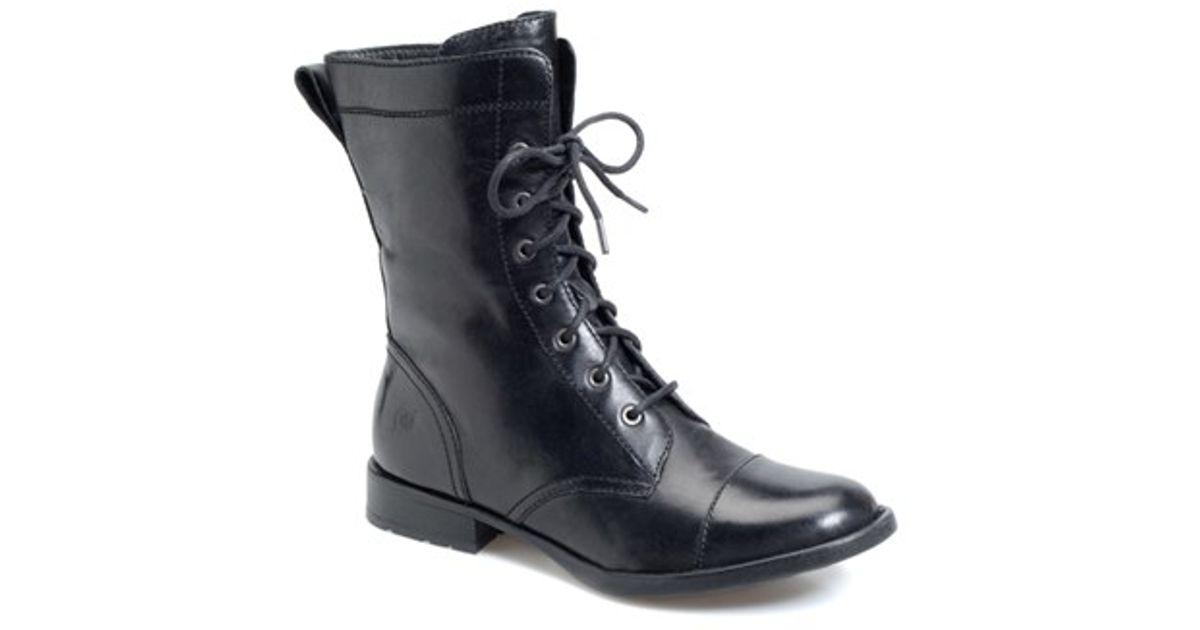 Born Livingston Combat Boot In Black Black Leather Lyst