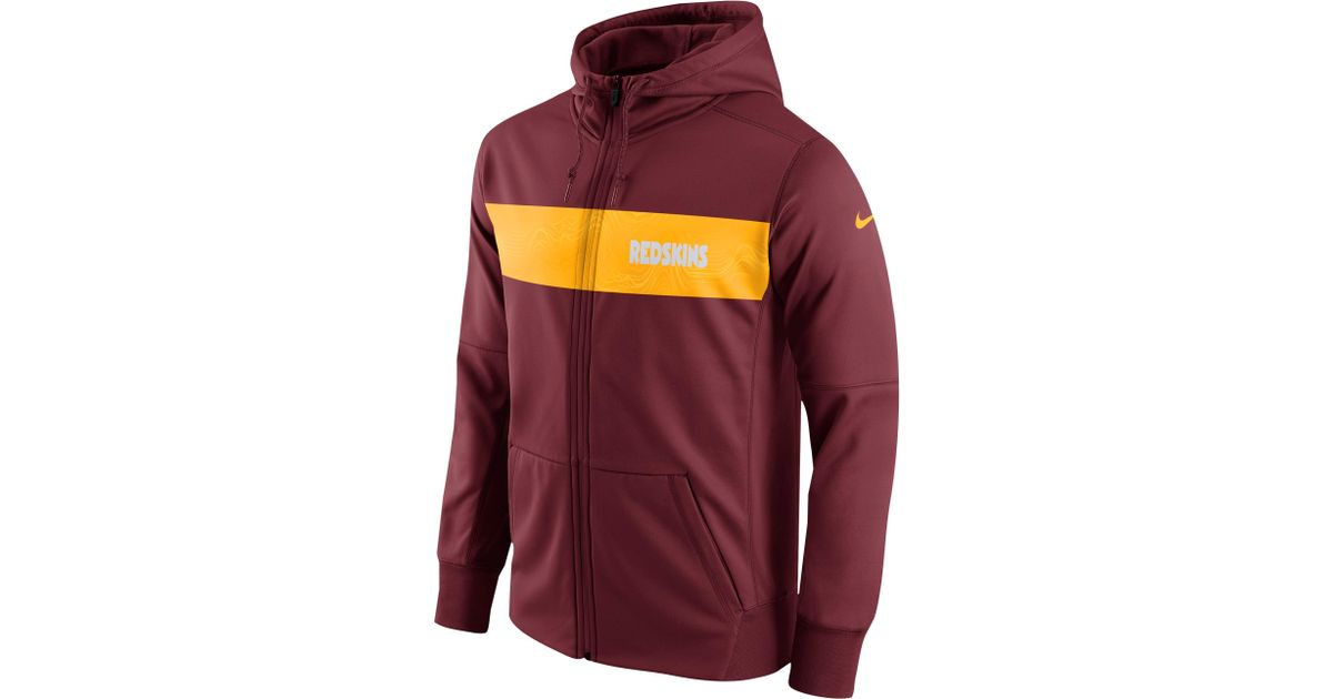 sale retailer e1922 d705a Nike - Washington Redskins Nfl Sideline Therma Seismic Fz Hoodie for Men -  Lyst