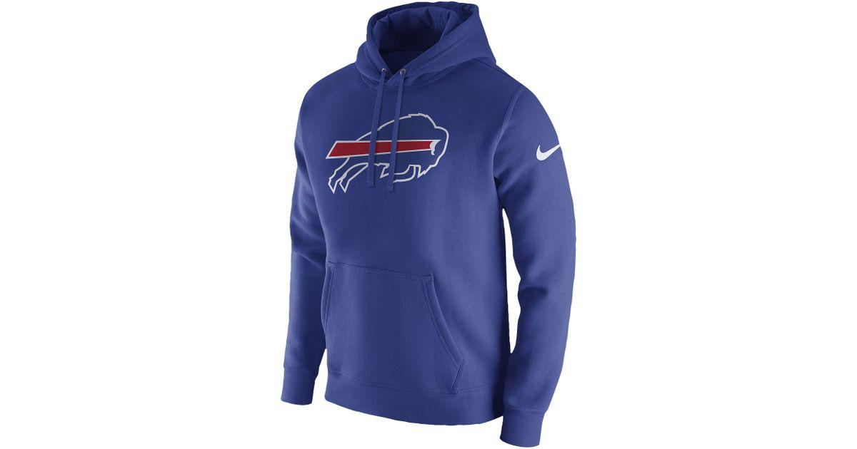 quality design 1ff89 97331 Nike - Blue Buffalo Bills Nfl Pullover Fleece Club Hoodie for Men - Lyst
