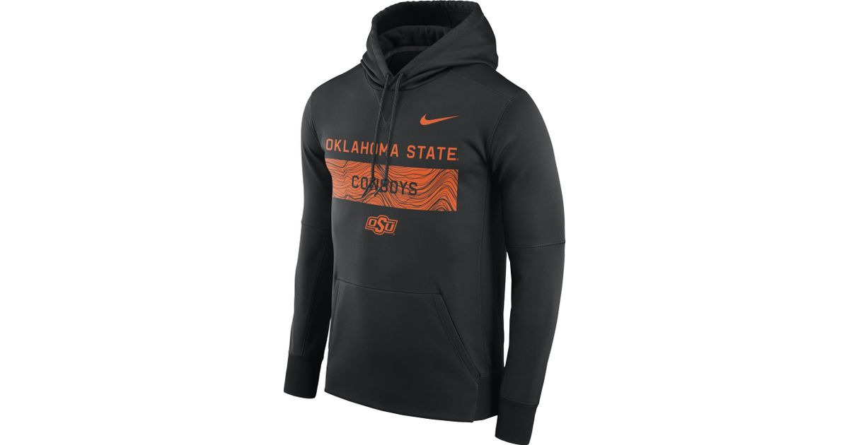afc56968f Nike Oklahoma State Cowboys College Sideline Therma Coaches Hoodie in Black  for Men - Lyst
