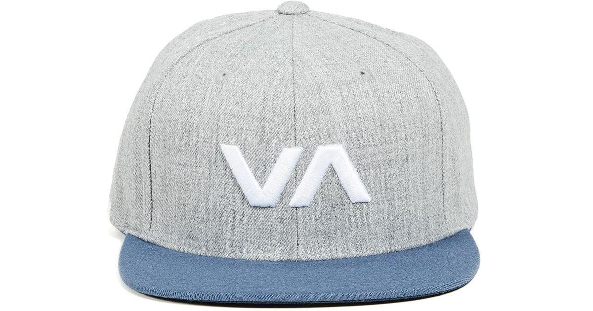 b89450683 RVCA - Blue Va Snapback Ii Hat for Men - Lyst