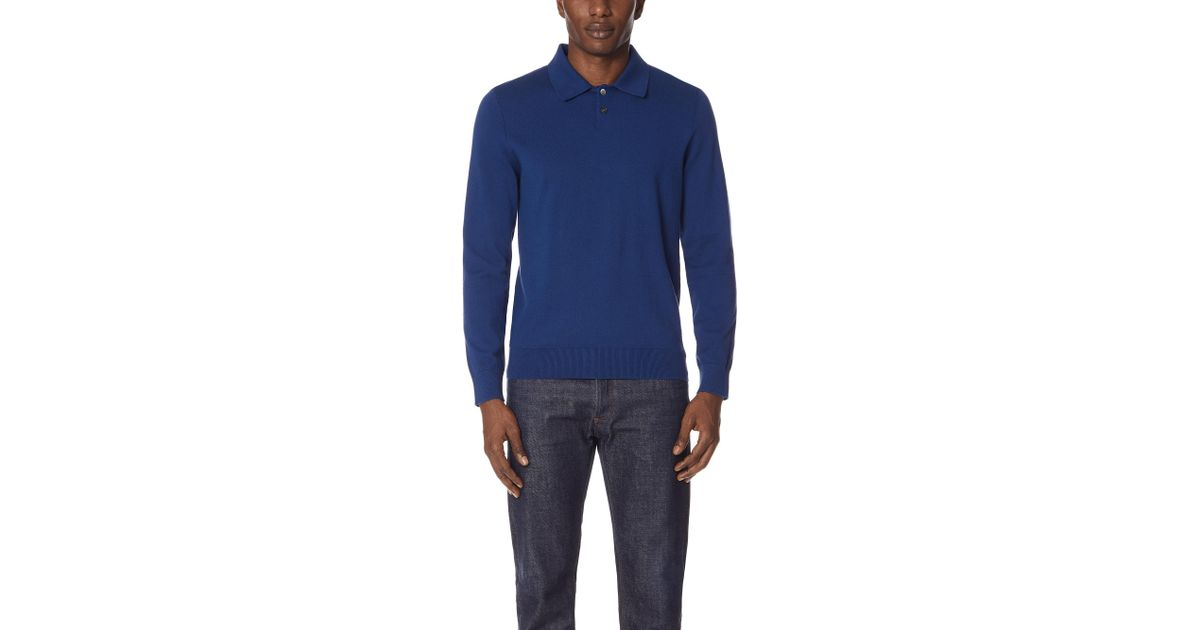 18513f58 Lyst - A.P.C. Michel Polo Shirt in Blue for Men