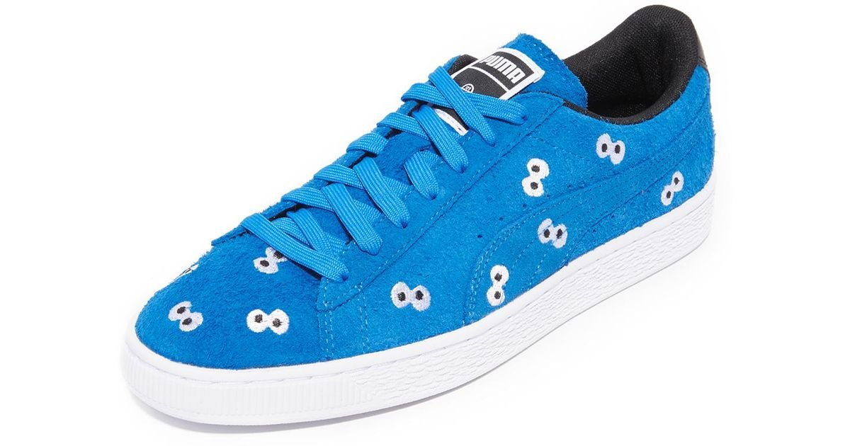 best service 0d877 a47bd Puma Select - Blue X Sesame Street Suede Sneakers for Men - Lyst