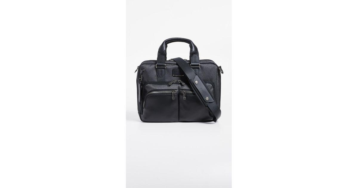 Lyst - Tumi Alpha Bravo Albany Slim Commuter Briefcase for Men b909ccbd42