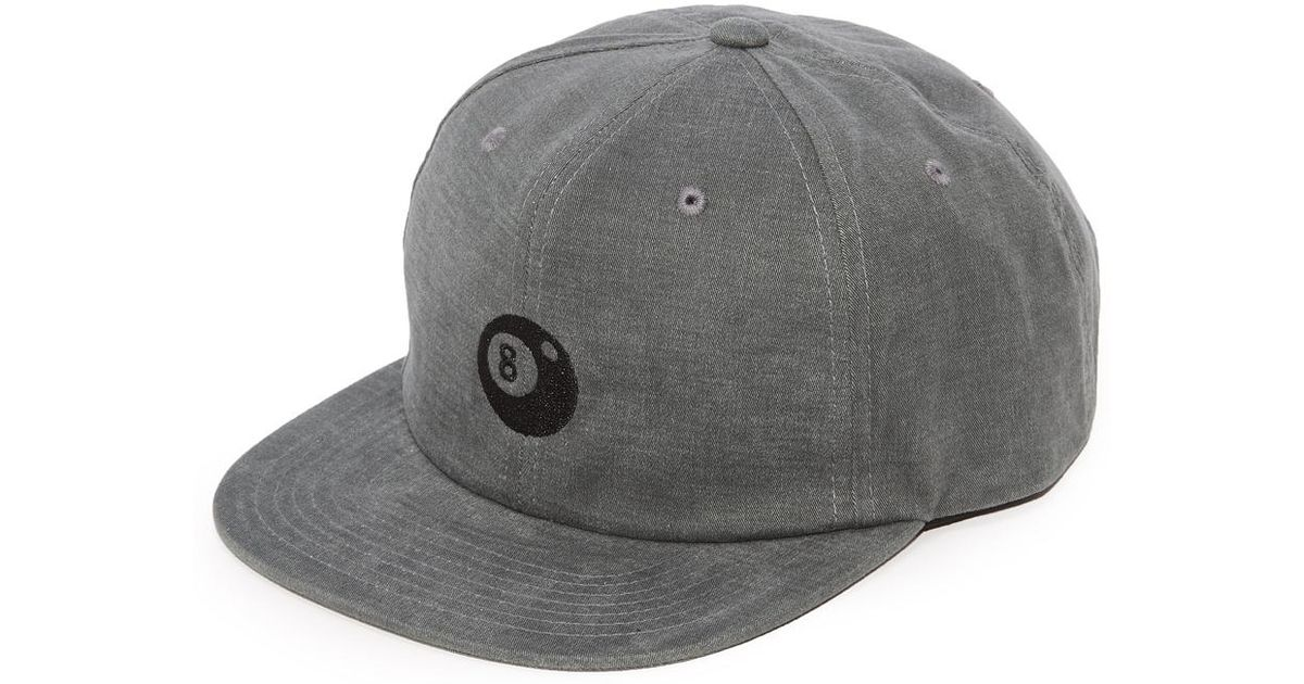 61bcca7db4a Lyst - Stussy 8 Ball Strapback Cap in Black for Men