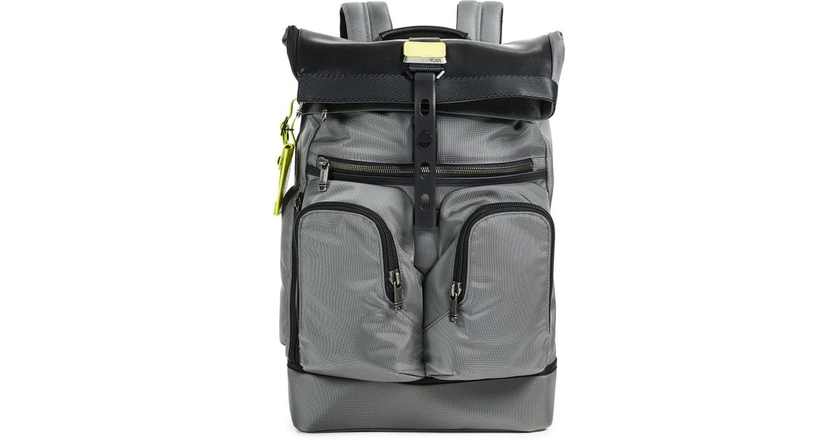 8be3caab64 Lyst - Tumi Alpha London Roll Top Backpack in Gray for Men