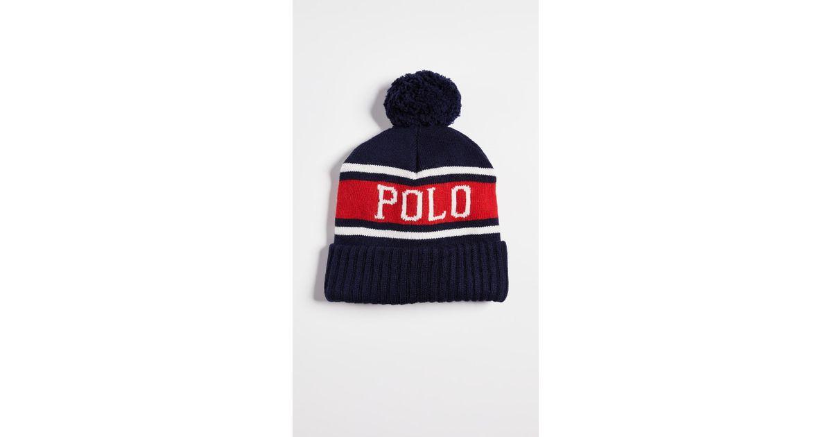 129e739e4befb Polo Ralph Lauren Polo Usa Stadium Hats (navy Multi) Beanies in Blue for  Men - Lyst