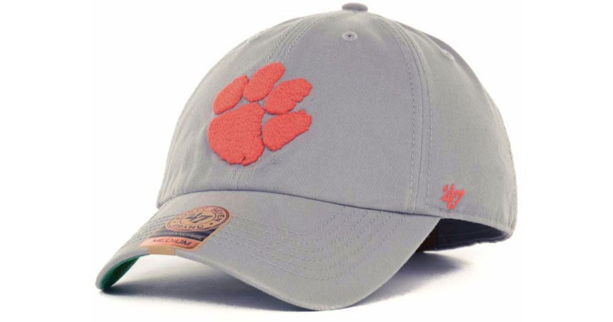 size 40 c2c39 f20e6 ... real lyst 47 brand clemson tigers ncaa 47 grey franchise cap in gray  for men 9f16e