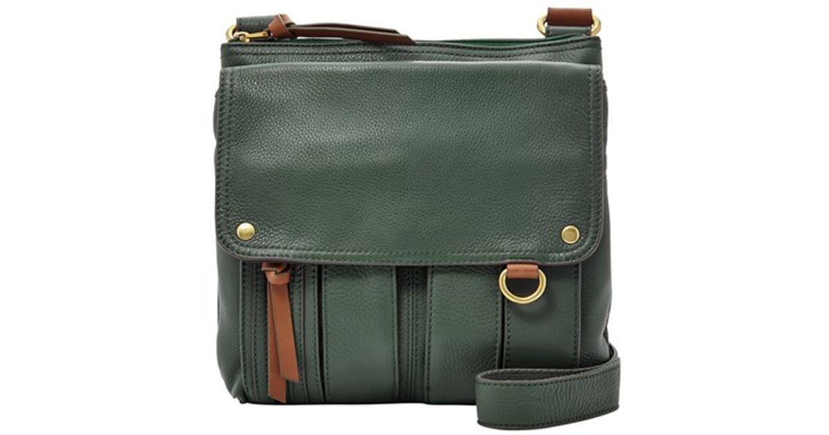 b171fd7de0a Fossil 'morgan Traveler' Crossbody Bag in Green - Lyst