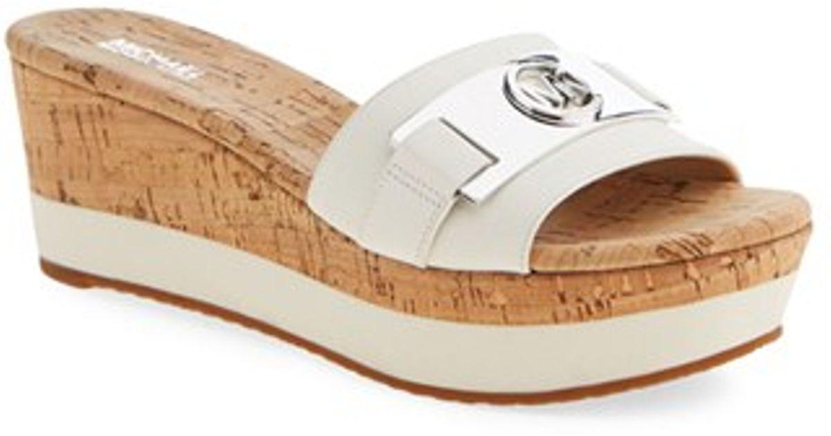 626c2545d10 Lyst - MICHAEL Michael Kors  warren  Platform Sandal in White