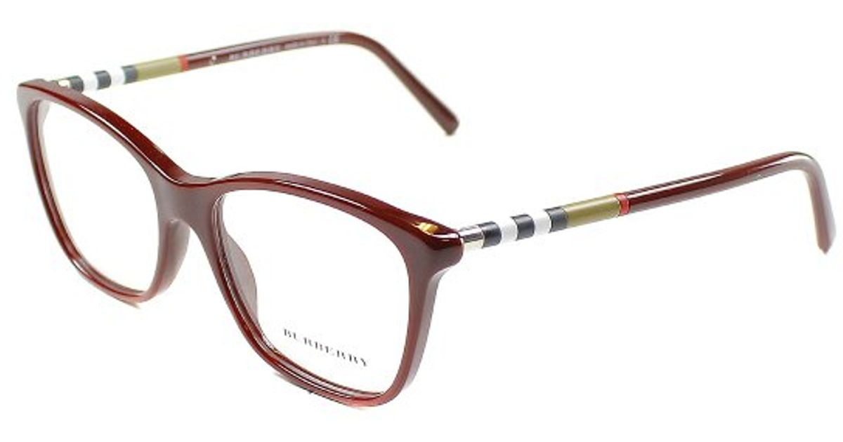 839c0db7e64d Lyst - Burberry Be2141 3403 Bordeaux Full Rim Eyeglasses in Purple