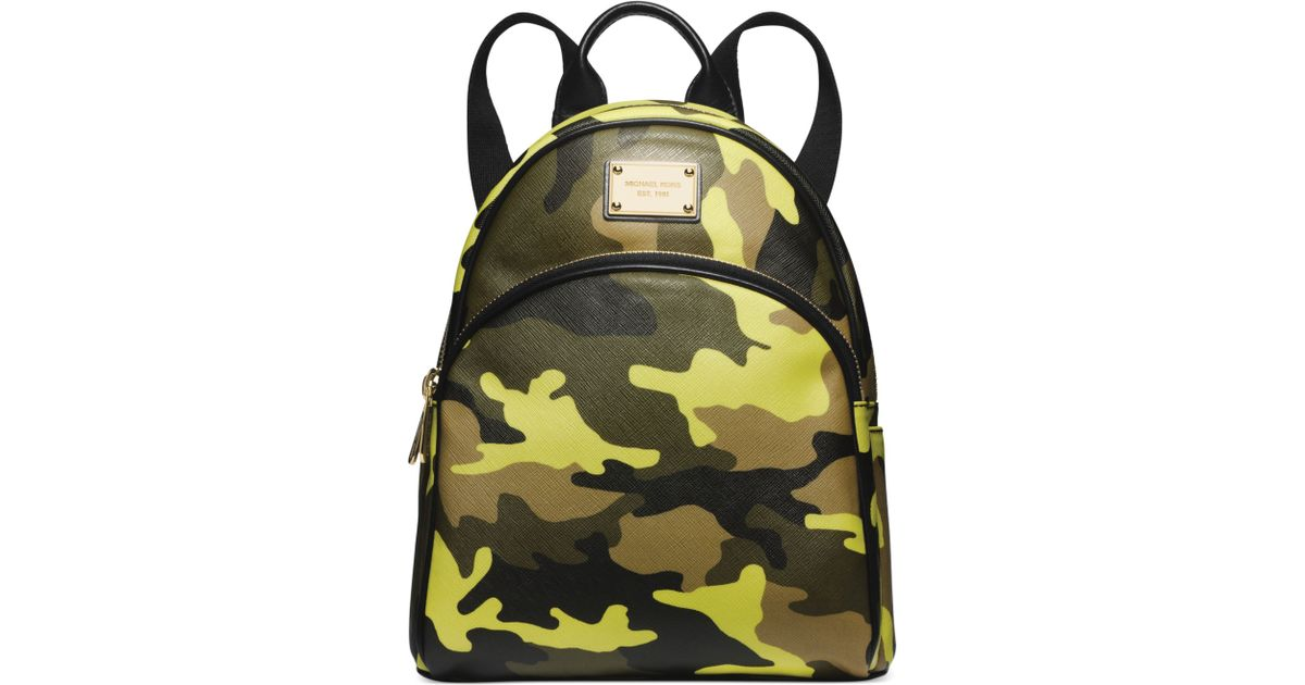6c8e717b2b93 ... Mens JetSet Camo Backpack Michael kors Michael Small Camo Backpack in  Green Lyst ...