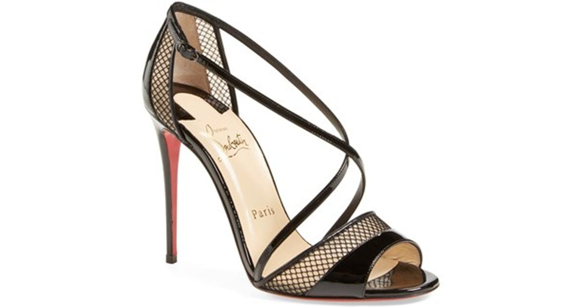 replica shoe - Christian louboutin Slikova Open-Toe Leather Sandals in Black ...