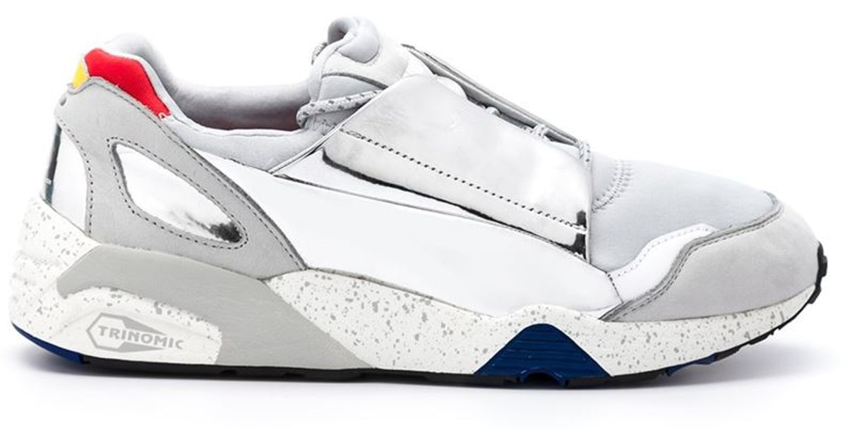 7c6f9d29e5c2 ... reduced lyst alexander mcqueen x puma leather and neoprene low top  sneakers in gray e3820 d861d