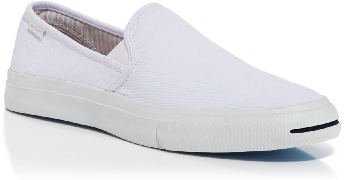 7702e81f3550 Lyst - Converse Jack Purcell Slip On Sneakers in White for Men