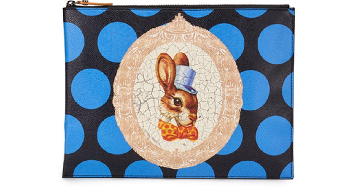 7b08e6369ed Vivienne Westwood Women's Bunny Clutch Bag in Black - Lyst