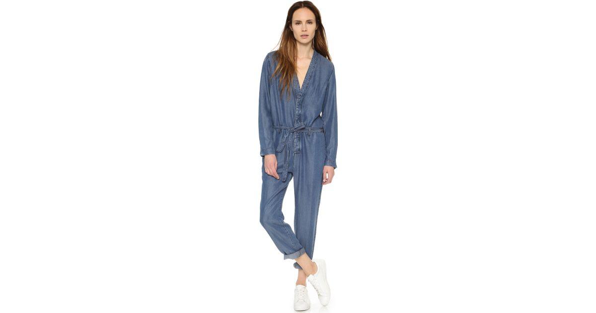 62630c1df70 Lyst - Free People Lou Jumpsuit in Blue