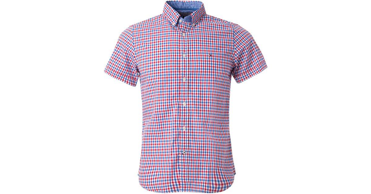 Tommy hilfiger owen gingham check shirt in multicolor for for Tommy hilfiger gingham dress shirt