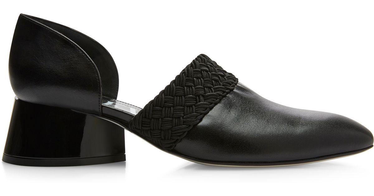 73bde2c7bbf Lyst - Loewe Black Lambskin Sculptural Heel Loafer in Black