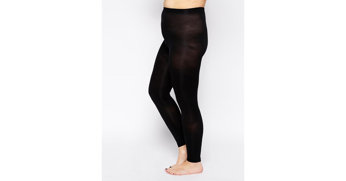a47168ede Lyst - ASOS Curve 120 Denier Footless Tights in Black