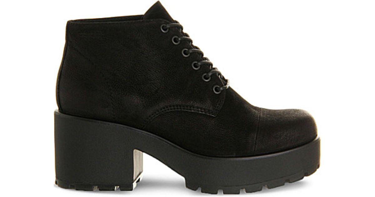 vagabond dioon nubuck boots in black lyst