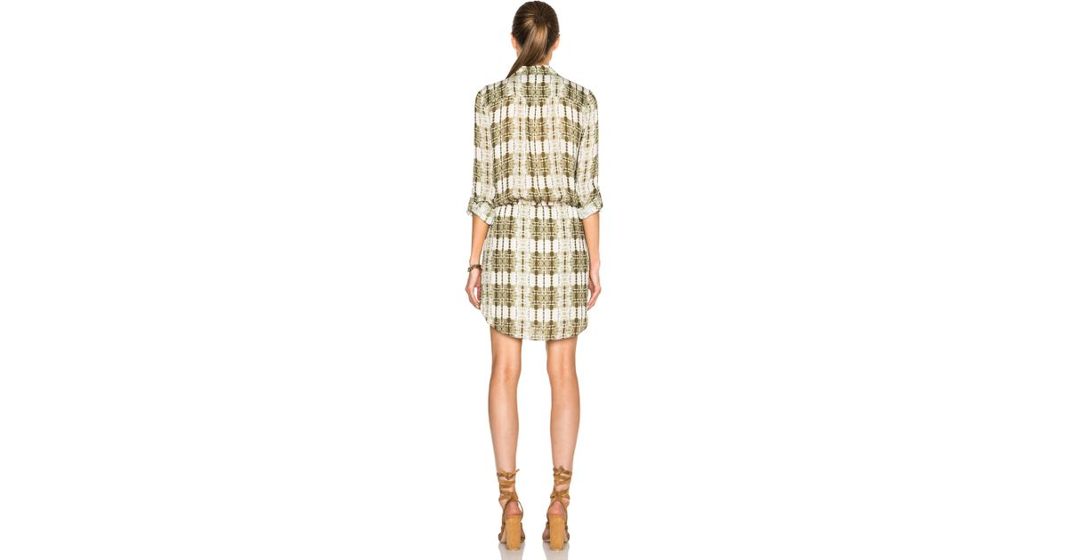45426c696356a2 Lyst - Haute Hippie Button Down Shirt Dress in Green