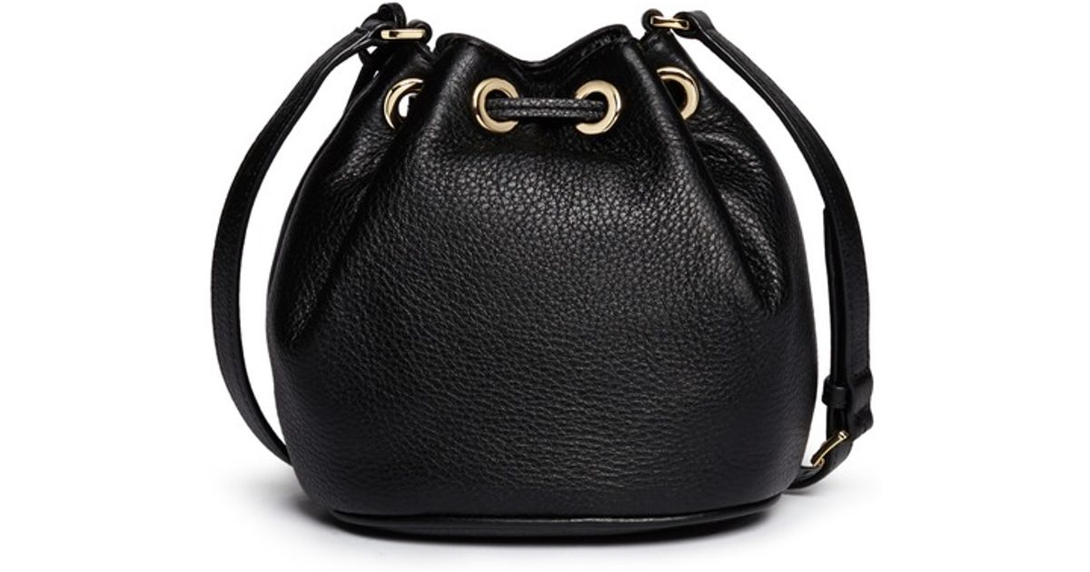 67200771de3d MICHAEL Michael Kors  Jules  Leather Crossbody Bucket Bag in Black - Lyst