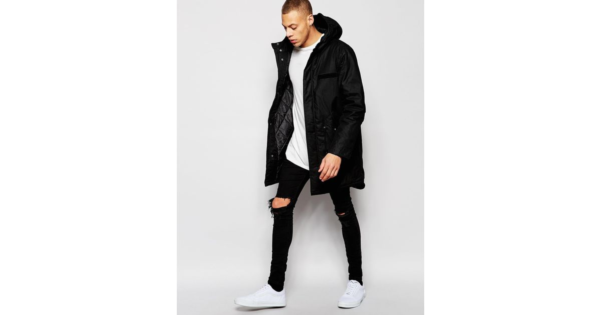 Cheap monday Cage Parka Jacket in Black for Men | Lyst