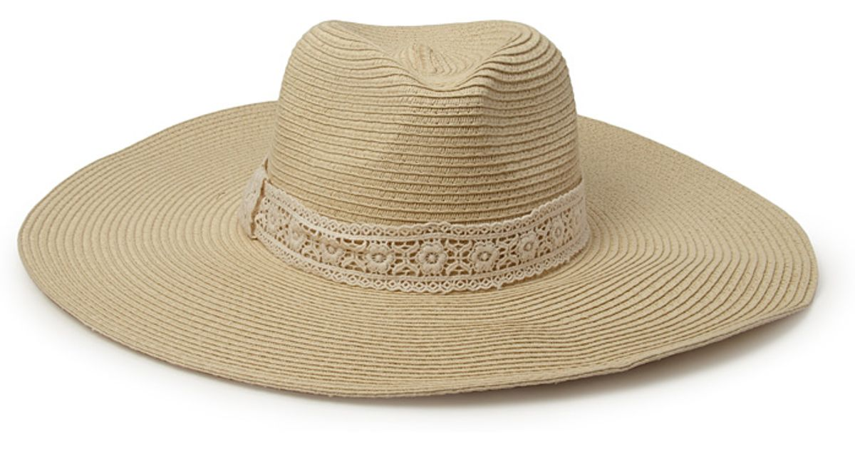 2c61d23fc35 Lyst - Forever 21 Crochet-babe Straw Sun Hat in Natural