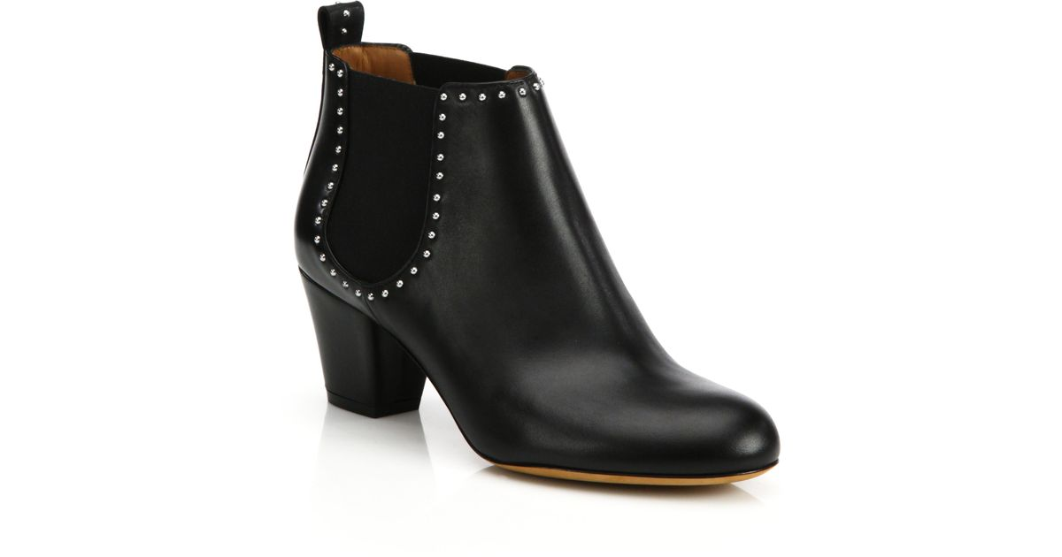 Givenchy Elegant Studded Chelsea Ankle Boots In Black Lyst