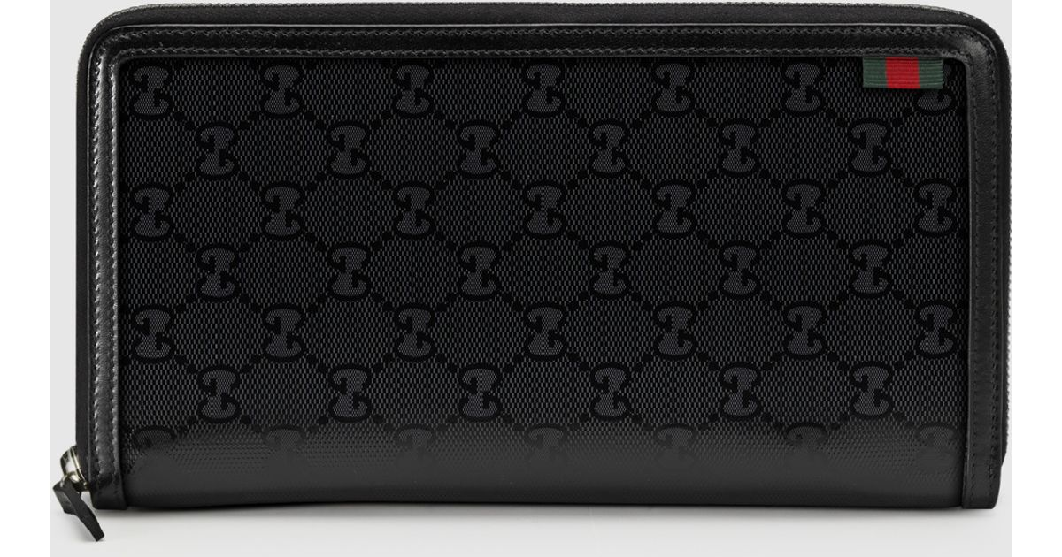 3785b4950d1c4a Gucci Travel Document Case in Black for Men - Lyst