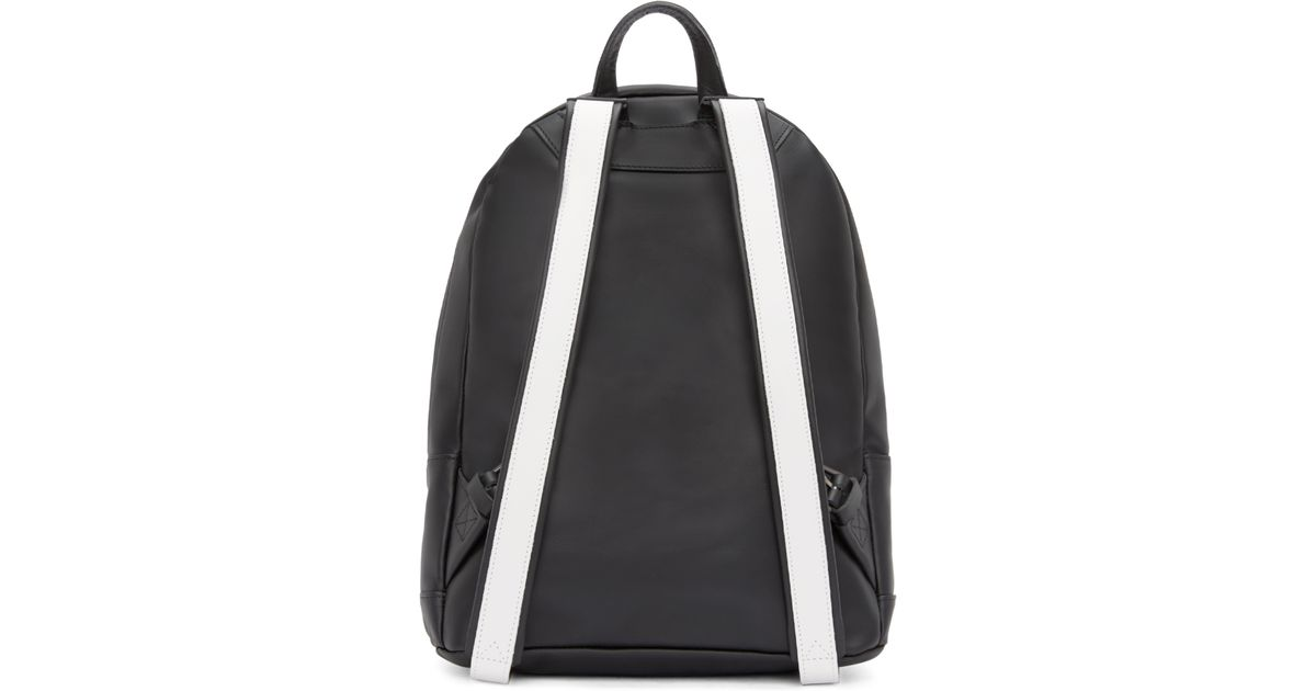 Pb 0110 Matte Black And White Ca 7 Backpack in Black for Men - Lyst 93c05979c9d67