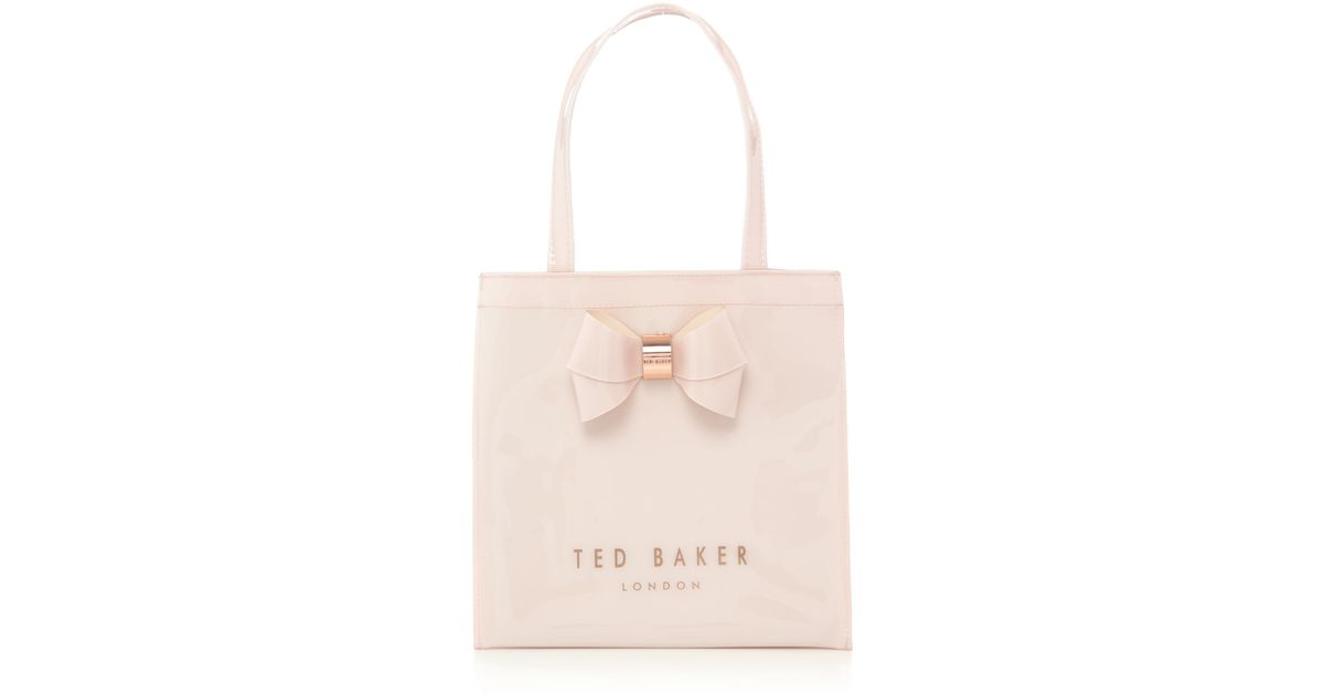 ted baker didicon light pink small bowcon tote bag in pink lyst. Black Bedroom Furniture Sets. Home Design Ideas