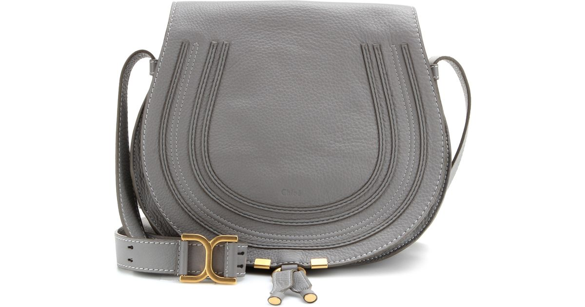 6d65e27c2 Chloé Marcie Leather Crossbody Bag in Gray - Lyst