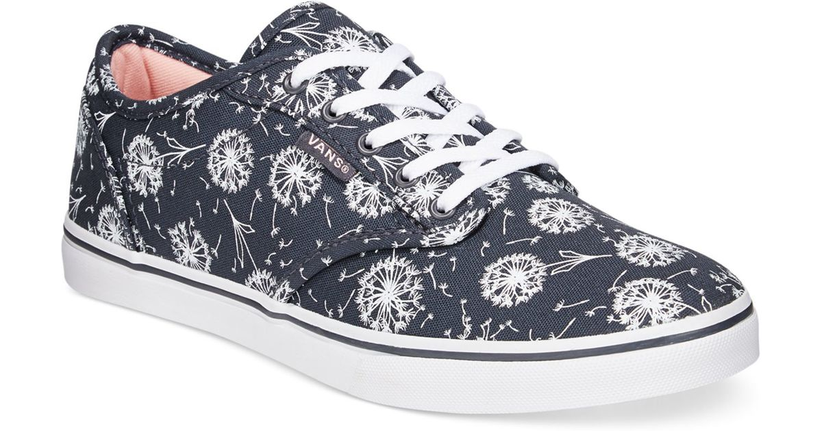 Lyst - Vans Women s Atwood Low Dandelion Lace-up Sneakers in Blue d9ac3e307a