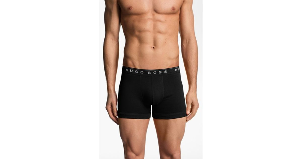 6636b34c Lyst - Boss Cotton Boxer Briefs in Black for Men