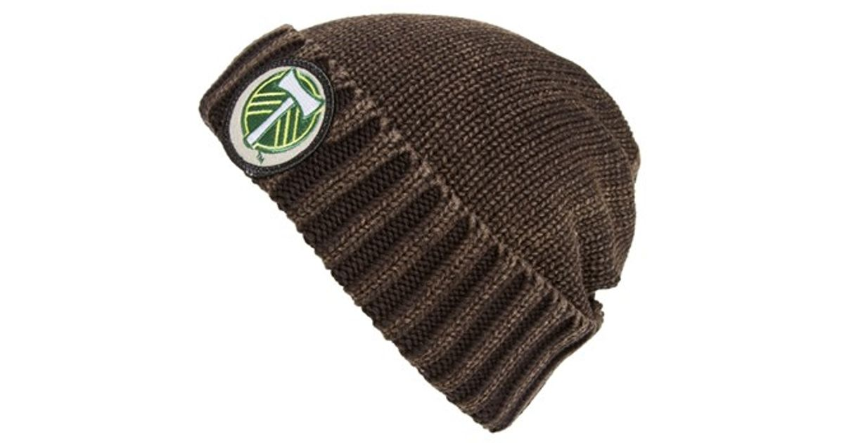 17864279cee Lyst - Mitchell   Ness  portland Timbers  Stripe Knit Hat in Brown for Men
