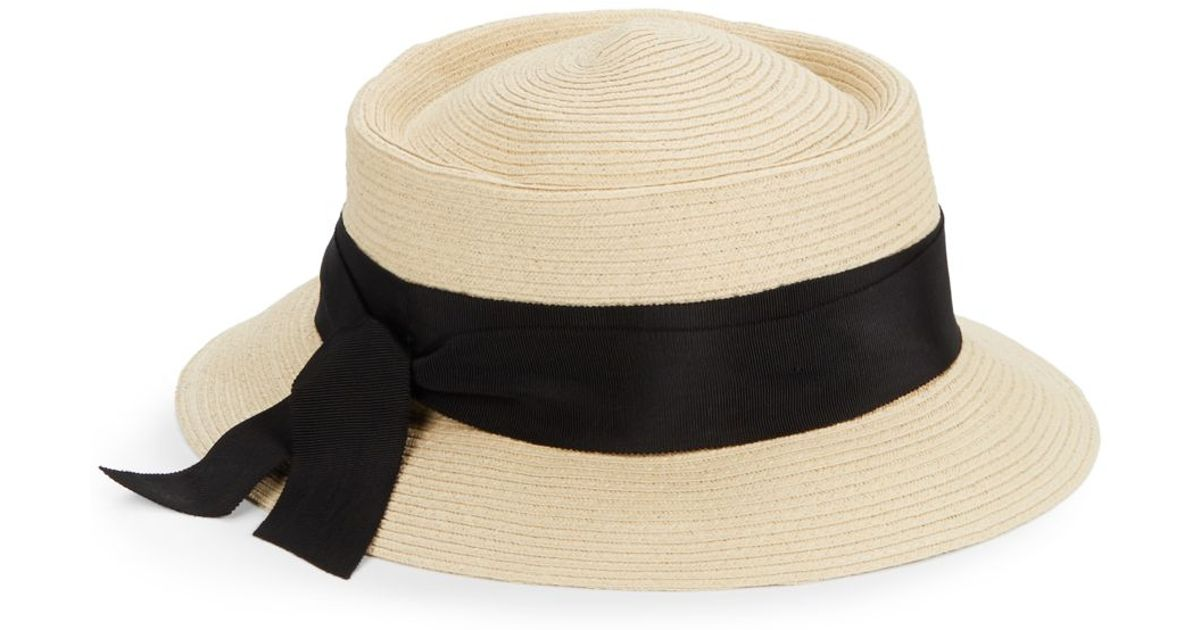 a8e58d2c493 Lyst - Gottex Olivia Straw Hat in Natural
