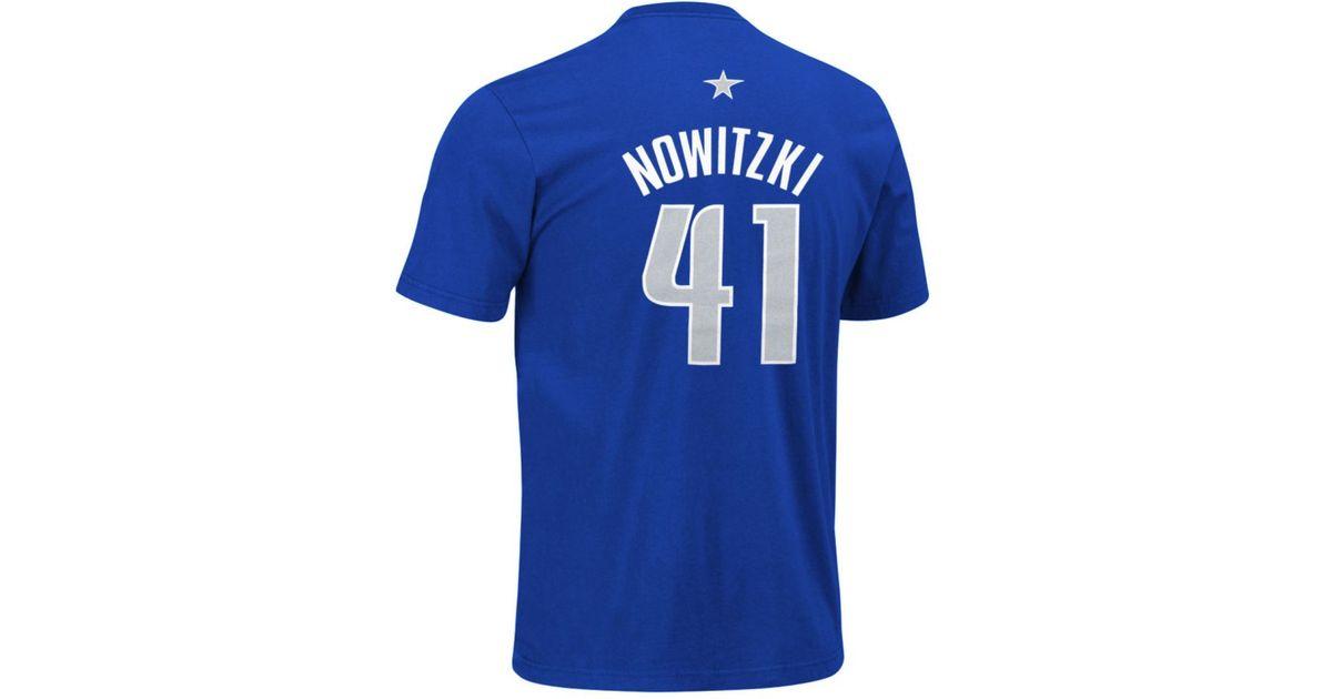 Adidas Originals Blue Men's Dallas Mavericks Dirk Nowitzki Player T shirt for Men Lyst