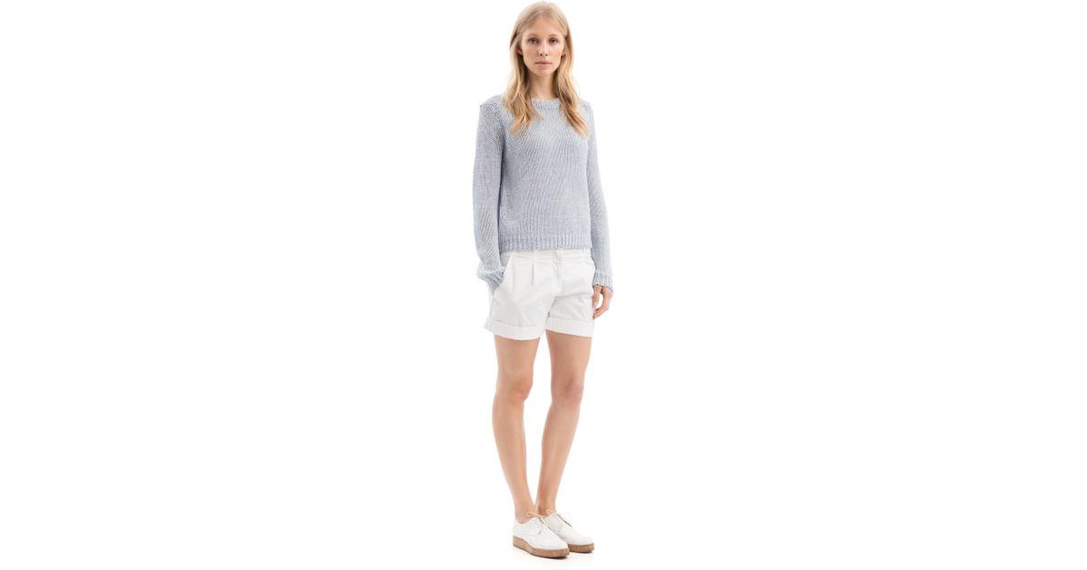 iris von arnim shorts jil in white lyst. Black Bedroom Furniture Sets. Home Design Ideas