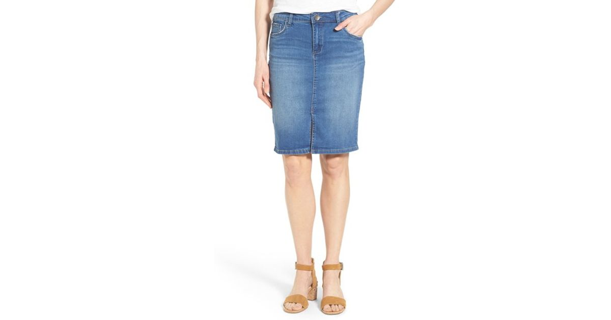 kut from the kloth rosie stretch denim pencil skirt in