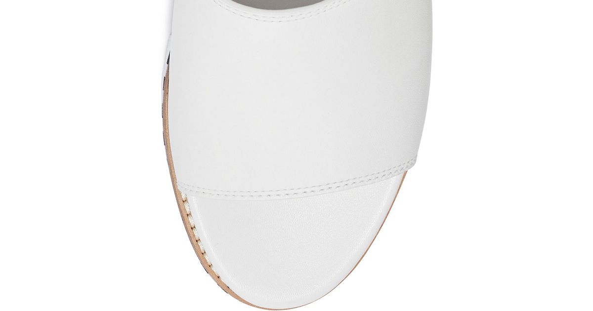 e60c9ff1f58 Lyst - Tory Burch Sawtooth Slide in White