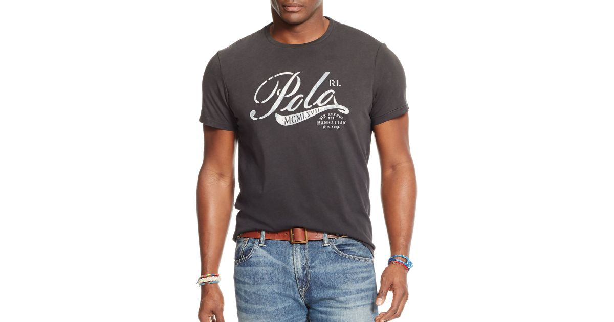 Polo ralph lauren big and tall graphic jersey t shirt in for Big and tall polo t shirts