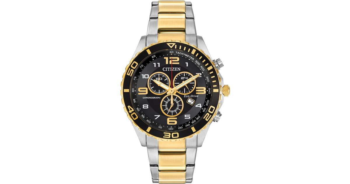 Citizen Men S Chronograph Eco Drive Two Tone Stainless